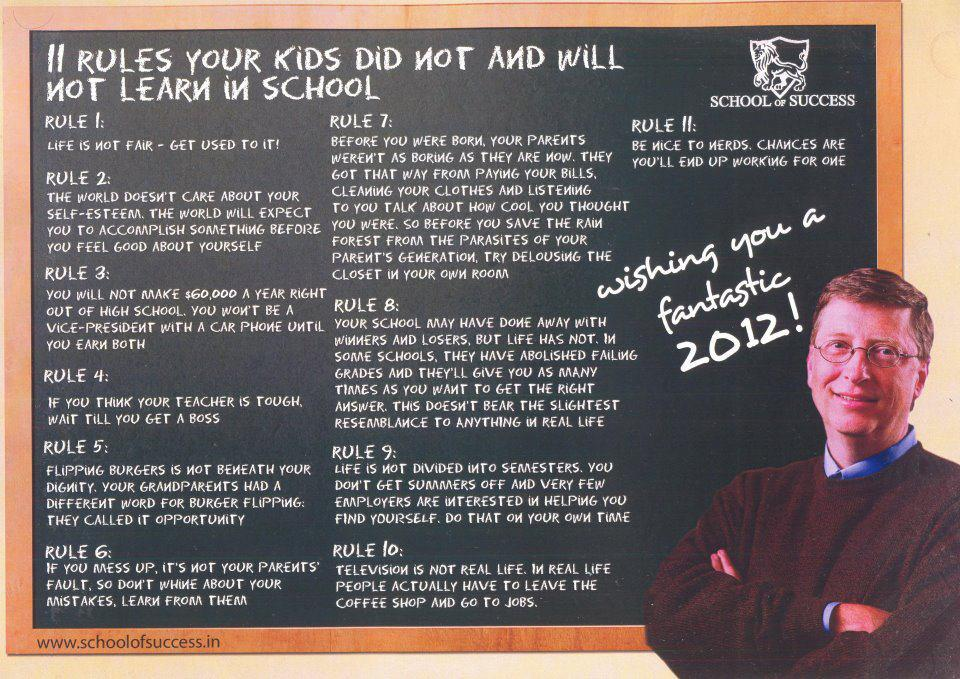 11 rules of Bill Gates